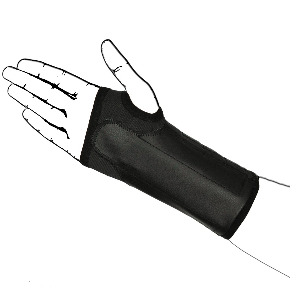 Elastic Black Wrist Brace Support