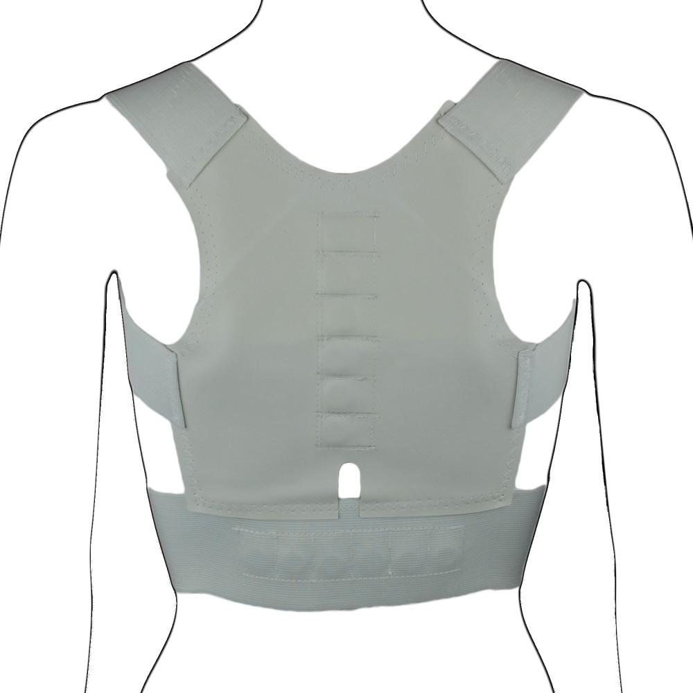 White Neoprene Magnetic Posture Corrector