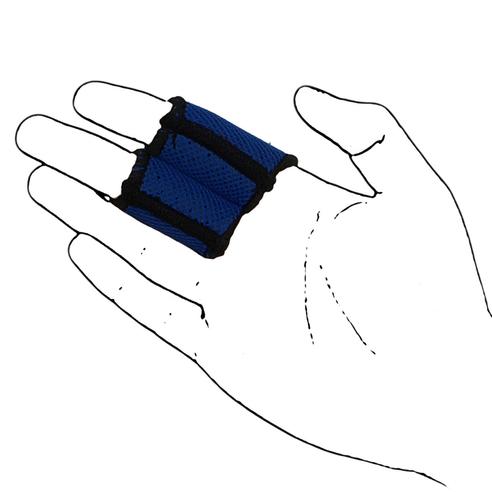 Blue Neoprene Finger Protector Sleeve