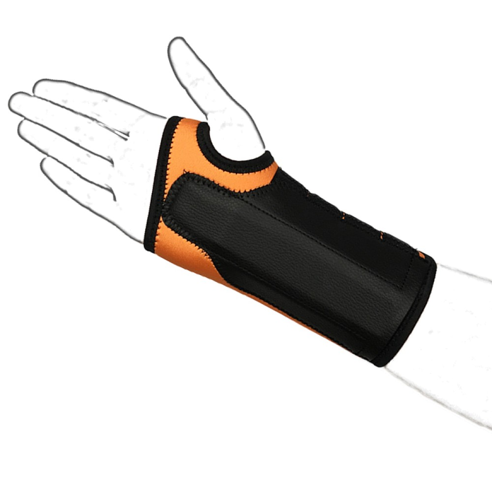 Orange N-Wrap Wrist Brace