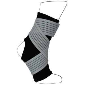 Black Neoprene Ankle Sleeve With Elastic Compression