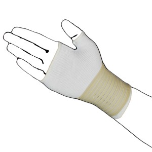 White palm hand with beige strap