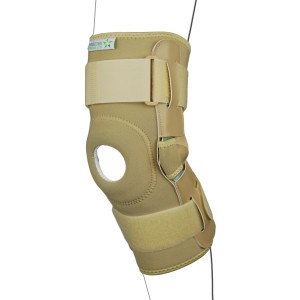 Strapped Hinged Knee Brace