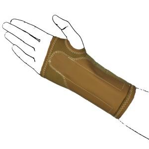 Elastic Beige Wrist Brace Support