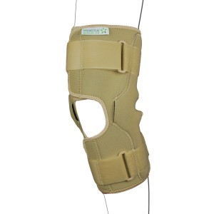 Beige Hinged Knee Stabilizing Brace
