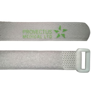 White Reusable Hook and Loop Velcro Straps