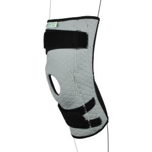 Grey Pull Up Adjustable Knee Support