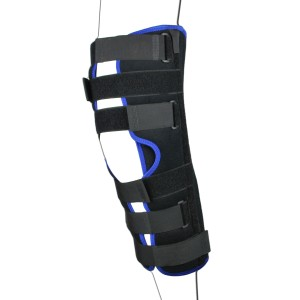 Black Tri Panel Knee Splint Leg Brace