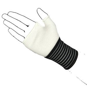 White palm hand with strap